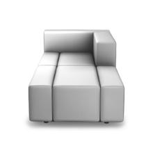 Max setzt auf eine Kombination aus großflächigeren 40 cm Modulen und den klassischen 20 cm Modulen. Damit bekommen Sie noch mehr Planungsmöglichkeiten und eine eigenständige, aufgelockerte Optik. Wobei die Anordnung innerhalb der Sitzeinheit frei ist.