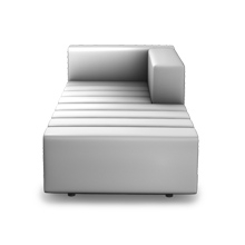 Alle Sitzelemente/Kombinationen in der Ausführung classic sind ausschließlich aus Modulen mit einer Rasterbreite von 20 cm aufgebaut. Ausgenommen sind lediglich Eckelemente und Ablagemodule.